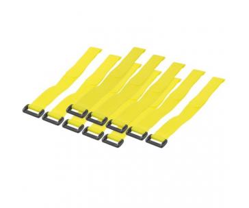 Techly pásky na suchý zip 300 x 20 mm, 10 ks, žluté