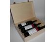 3 lahve vína z vinařství DOBRÁ VINICE v dřevěné kazetě – Quatre 2014, Kambrium 2014, Veltlínské zelené 2015