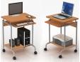 Techly PC stůl Compact 600x450 s polici klávesnice buk/stříbrná