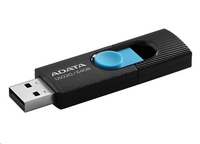 ADATA Flash Disk 16GB USB 2.0 Dash Drive UV220, White/Gray