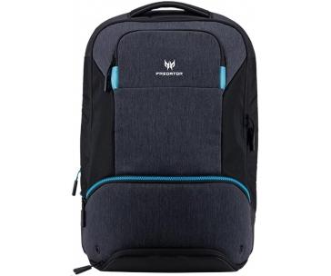 """Acer PREDATOR HYBRID BACKPACK FOR 15.6"""",  BLACK WITH TEAL BLUE"""