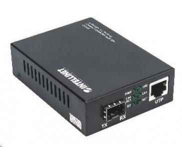 Intellinet 10GbE konvertor, 1x SFP+ slot, 1x 10GBase-T RJ45 port
