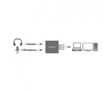LOGILINK - USB audio adapter, silver