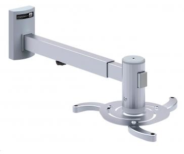 CONNECT IT Spider držák projektoru na zeď, STŘÍBRNÝ /pro monitory rozteč otvorů 130-320mm