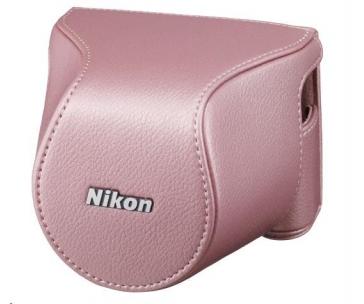 NIKON CB-N2200S kožené pouzdro pro J3+10-30 - růžové