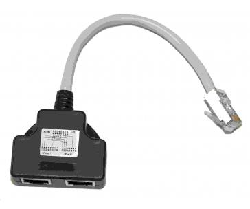 Adaptér rozdvojka RJ45, 1x8p8c/2x8p4c, PC-PC, stíněný