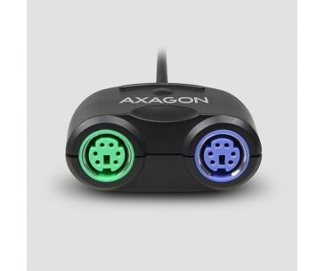 AXAGON ADPS-50, USB2.0 - 2x PS/2 aktivní adaptér
