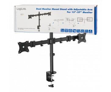 LOGILINK -  Dual monitor desk mount, 13-27'', max. 8 kg