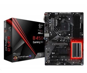 ASRock MB Sc AM4 Fatal1ty B450 Gaming K4, AMD B450, 4xDDR4, VGA