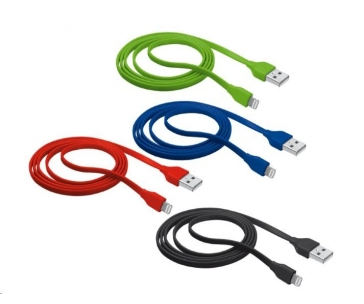 TRUST Flat Lightning Cable 1m - black
