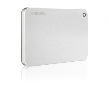 """TOSHIBA HDD CANVIO PREMIUM 1TB, 2,5"""", USB 3.0, metalická stříbrná"""