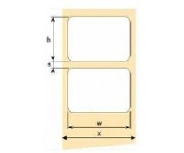 OEM samolepící etikety 32mm x 16mm, bílý PE, cena za 2500 ks