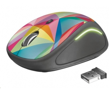 TRUST Myš Yvi Wireless Mouse USB, geometrics