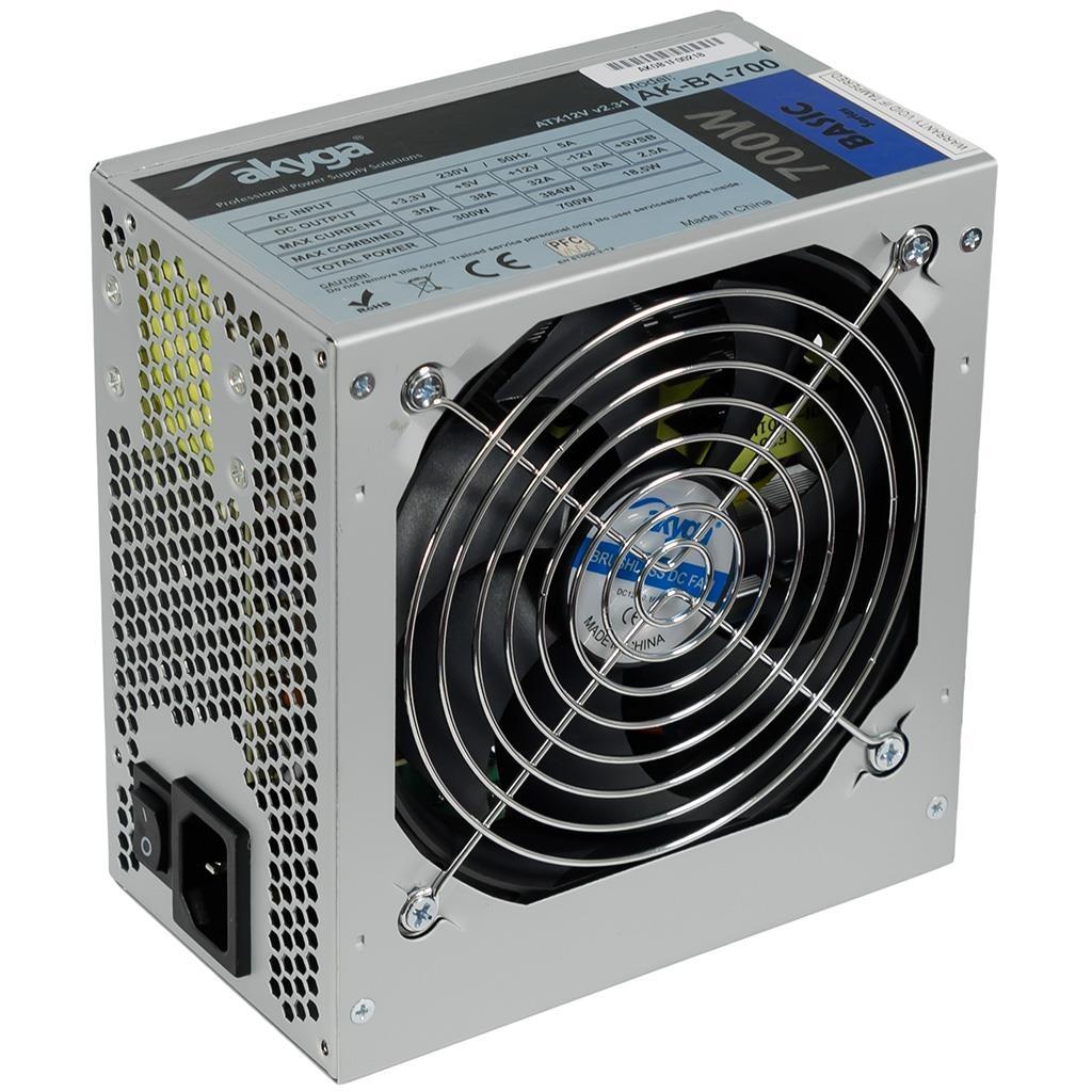 Akyga Basic ATX Power Supply 700W AK-B1-700 Fan12cm P8 5xSATA PCI-E
