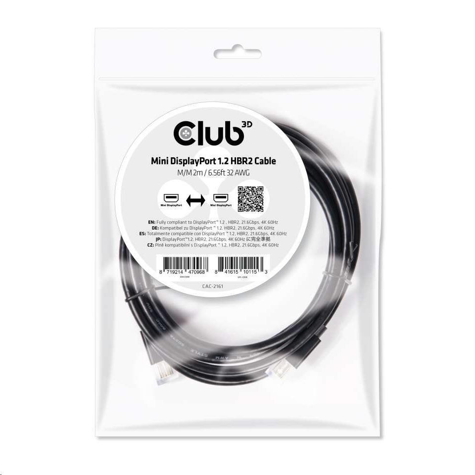 Club3D Kabel mini DISPLAYPORT 1.2 (M/M), 2m