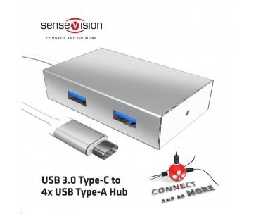 Club3D hub USB 3.0 typ C na 4x USB