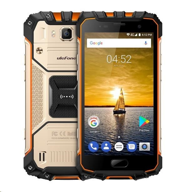 """UleFone smartphone Armor 2, 5"""" Golden 6/64GB Android 7 4G LTE"""
