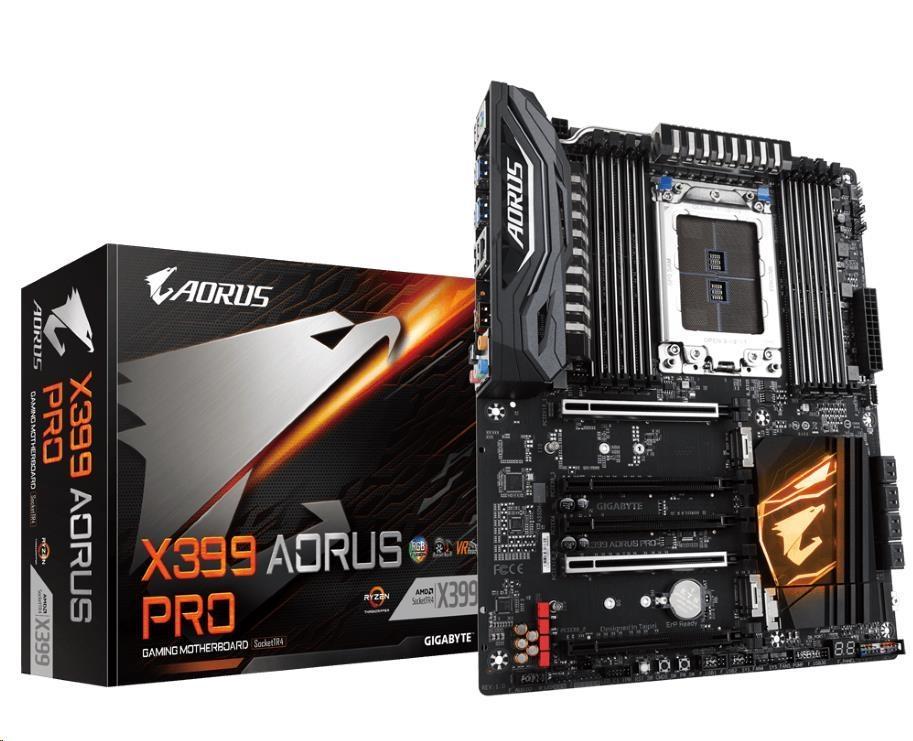 GIGABYTE MB Sc AMD X399 X399 AORUS PRO (rev. 1.0), AMD X399, 8xDDR4