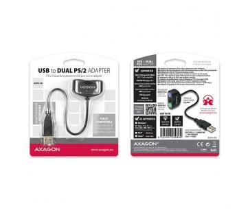 AXAGON ADPS-50 USB2.0 - 2x PS/2 adapter