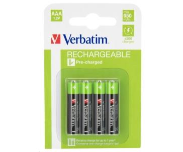 VERBATIM Nabíjecí baterie AAA Premium 4-Pack 950mAh