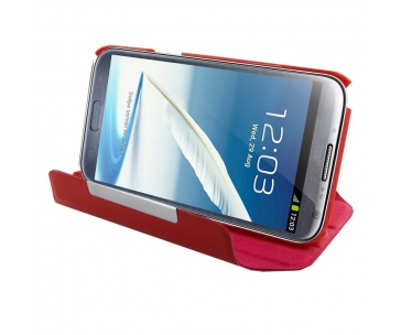 4WORLD 09136 4World Ochranné pouzdro pro Galaxy Note 2, Rotary, 5.5, červený