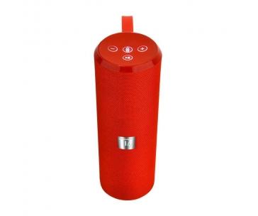 TECHLY 108545 Techly Bezdrátový BLT reproduktor TUBE 10W FM radio/USB/MicroSD/Aux červená