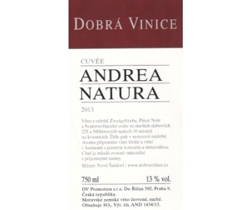 Andrea natura cuvée 2013