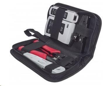 Intellinet 4-Piece Network Tool Kit, sada nářadí: cable tester, krimpovací kleště, LSA narážecí nástroj, stripovač