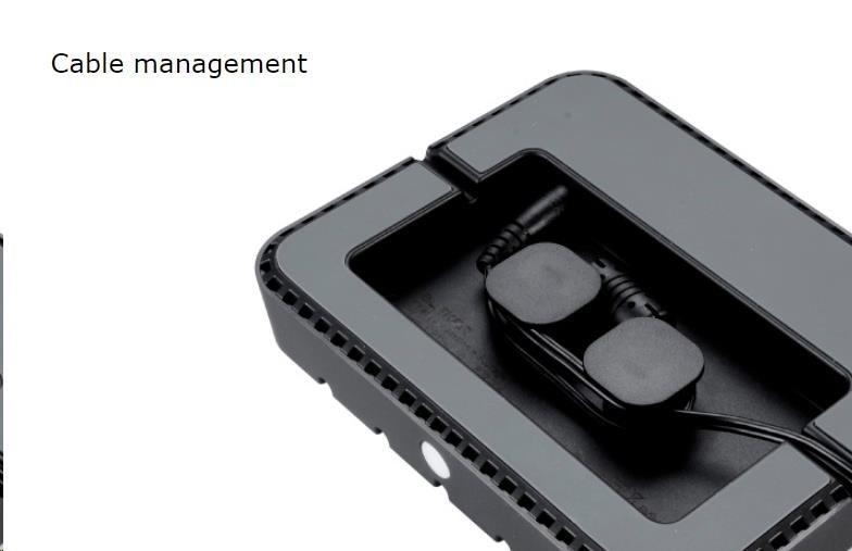 AKASA Charging station - USB nabíjecí stanice, 5 portů – DC5V/2.4A fast charging, bílá / white