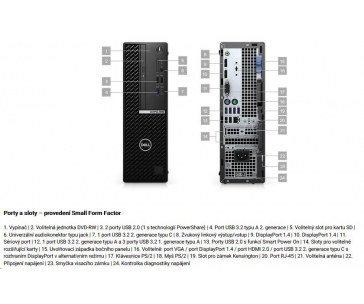 DELL OptiPlex 7080 SFF/Core i5-10500/16GB/512GB SSD/Integrated/TPM/DVD RW/Kb/Mouse/W10Pro/vPro/3Y ProSpt
