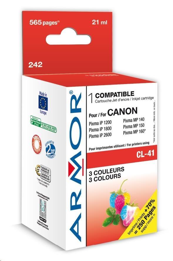 ARMOR cartridge pro CANON Pixma IP1200, IP1300, IP2200, IP2500 MP150, MP450, MX300 (CL41) color
