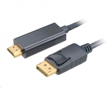 AKASA Adaptér 4K DisplayPort na HDMI active, kabel, 1.8m