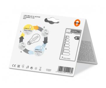 OSRAM LED Filament STAR+Active&Relax ClasA  230V 7W 827 E27 noDIM A++ Sklo čiré 806lm 2700&4000K 15000h (blistr 1ks)