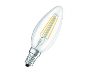 OSRAM LED BASE CL B Filament 4,5W 827 E14 470lm 2700K (CRI 80) 10000h A++ (Krabička 3ks)