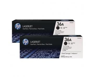 HP 36A Black 2-pack LJ Toner Cart, 2 x 2 000 str, CB436AD