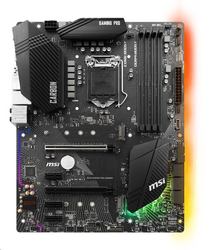 MSI MB Sc LGA1151 B360 GAMING PRO CARBON, Intel B360, VGA, 4xDDR4