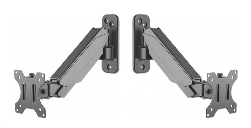 """Manhattan Wall Mount, Single gas-spring arm, for one 17"""" to 32"""" monitor"""