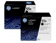 HP 55X Black 2-pack LJ Toner Cart, 2 x 12 500 str, CE255XD