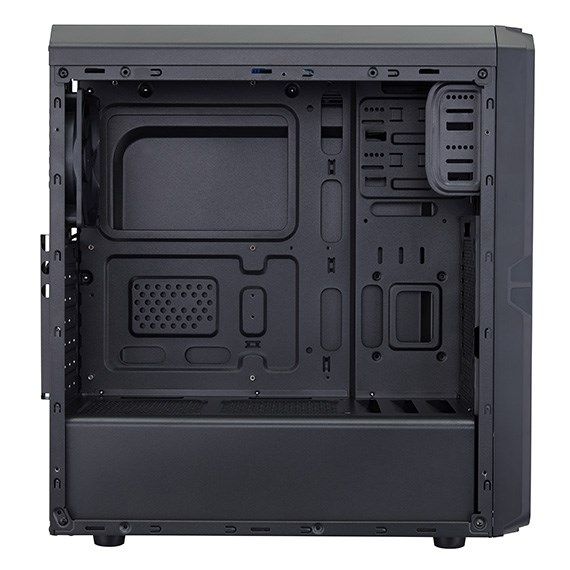 Fortron skříň Midi Tower CMT120A Black, průhledná bočnice