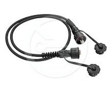 Solarix průmyslový patch kabel CAT6 UTP 10m černý IP67