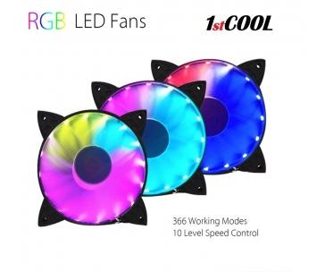 1stCOOL RAINBOW RGB Fan 12cm