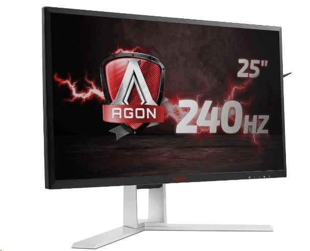 "AOC MT LCD WLED 24,5"" AG251FZ - herni, 400cd, 1ms, 1920x1080, D-Sub, DVI, 2xHDMI, 4xUSB, MHL, DP, repro, pivot"
