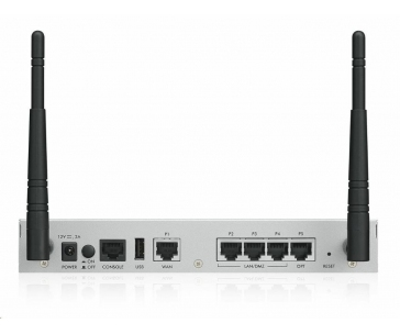 Zyxel ZyWALL USG40W UTM BUNDLE Wireless Security Firewall, 4x gigabit RJ45 (3x LAN/DMZ, 1x WAN), 1xUSB, fanless