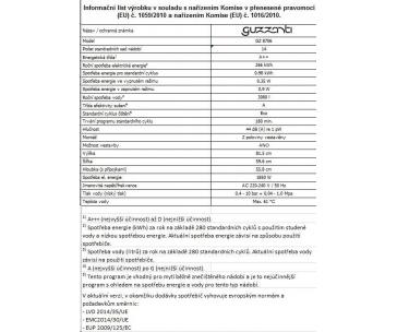 GUZZANTI GZ 8706 MYČKA NÁDOBÍ PLNĚ INTEGROVANÁ 60 CM
