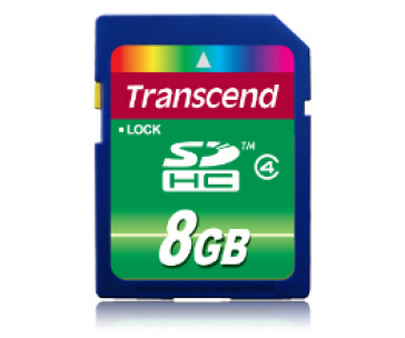 Transcend Paměťová karta SDHC 8GB Class 4