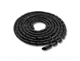 QOLTEC 52257 Qoltec Organizátor kabelů 20mm 10m černá