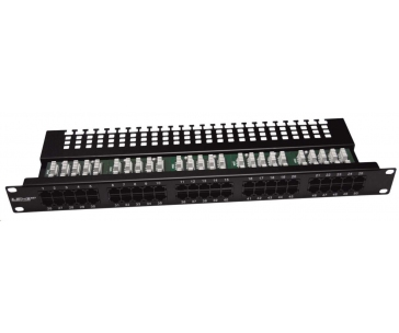 "19"" Patch panel LEXI-Net telefonní 50port, UTP, Cat3, krone, černý"