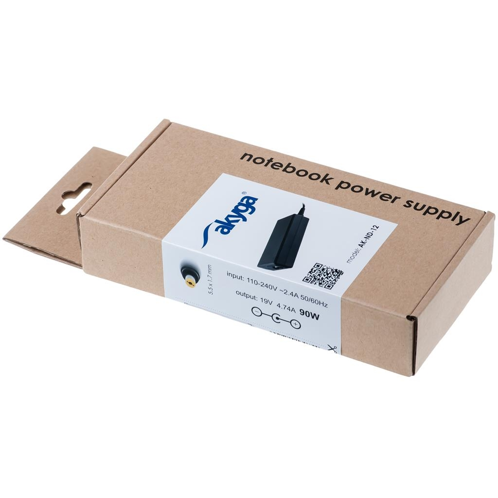 Akyga notebook power adapter AK-ND-12 19V/4.74A 90W 5.5x1.7mm ACER