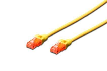 Patch kabel Digitus UTP, CAT 6,žlutý, 0,5m, 15 LGW