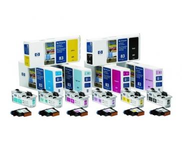 HP 83 Yellow UV Printhead + Printhead Clenaer, C4963A